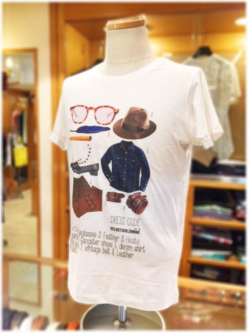 【VELVET GOLDMINE】    ベルベットゴールドマイン  - Italy -  クルーネック 半袖Tシャツ