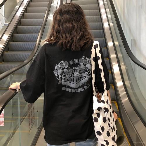 【トップス】ホラー風プリント個性派海外トレンドヒップホップ半袖Tシャツ