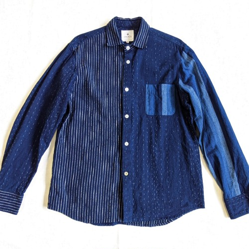 <OSOCU> Bingo-fushiori crazy pattern standard shirt