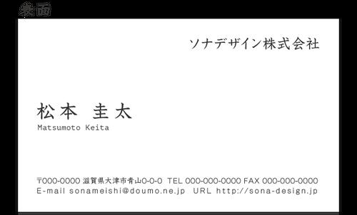 ビジネス両面名刺・シンプル 019 100枚