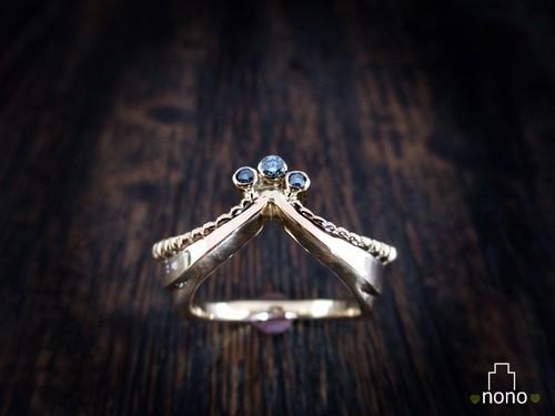 「Hahu Ring」 <k18> お城の破風をデザインしたリング(18金)
