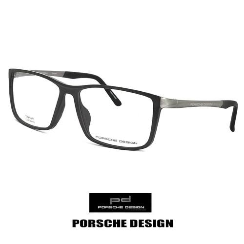 日本製 ポルシェデザイン メガネ p8328-a チタン PORSCHE DESIGN 眼鏡 porschedesign ウェリントン 黒縁 バネ蝶番