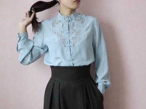 80's silk china blouse