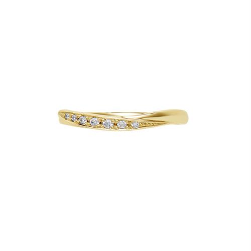 [約1ヶ月でお届け]レディース 2mm幅 K18 結婚指輪     OCTAVE∞Nouer~結び~「手をとりあって ふたりのリズムで 時を結び こころを結ぶ」
