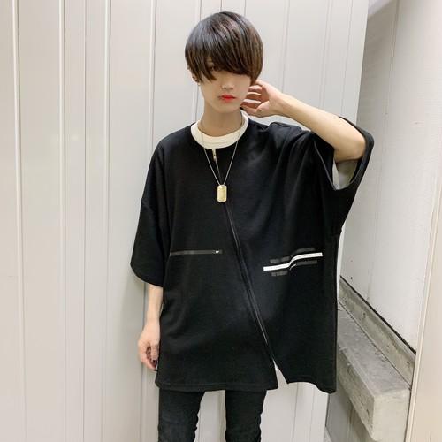 【即納】韓国ファッション Reaning ZIP Tee