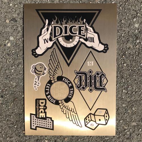 DicE Gold Foil Sticker Sheet