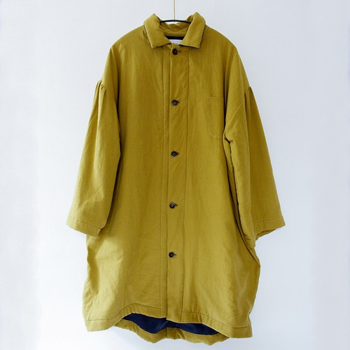 Back fleece long coat    Fsize    Mustard