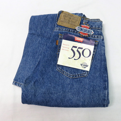 "90's LEVI'S 550 STONE WASHED ""DEAD STOCK"""