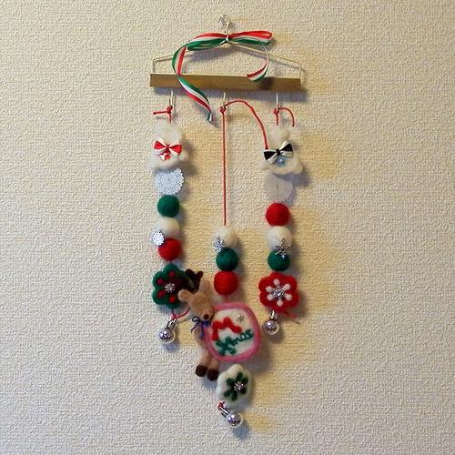 羊毛フェルト「クリスマスオーナメント」
