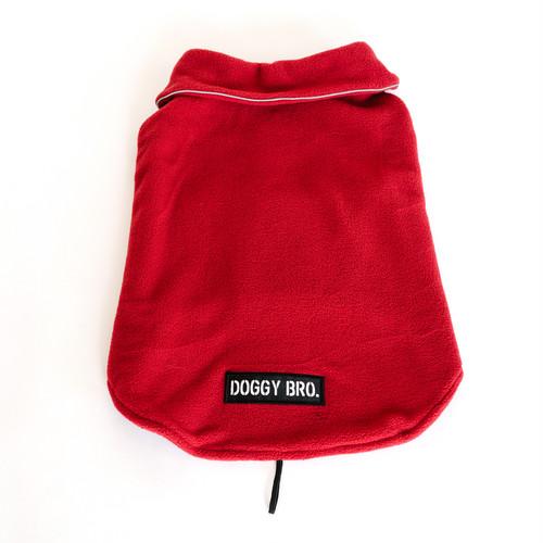 DOGGY BRO.(ドギーブロ) ロゴフリースジャケット レッド