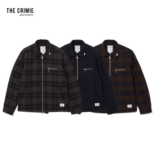 CRIMIE / CR1-02L5-JK24 / LEX WOOL CHECK ZIP JACKET