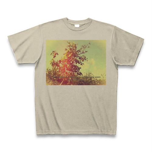 『一粒の木の実は、いくつもの森を生む。』Tシャツ(シルバーグレイ)