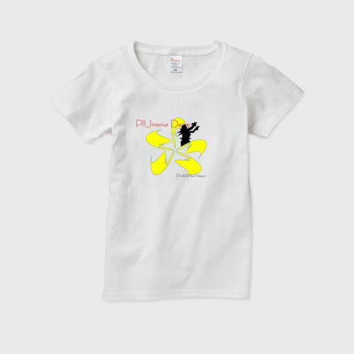 レディースTシャツ フラガール×プルメリア インスタ映えするプルメリアデザイン PlUmeriaDesign