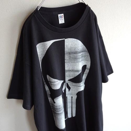 "2000's [MARVEL] ""The Punisher"" スカルTシャツ ブラック 表記(XL) マーベル パニッシャー"