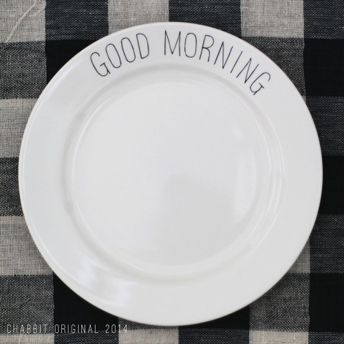 GOOD MORNING PLATE