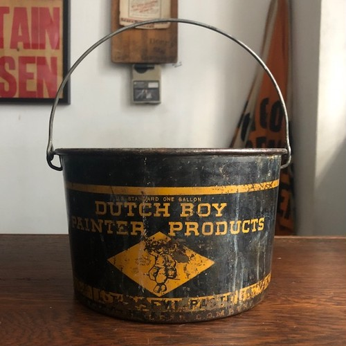 Vintage Dutch Boy Paint Bucket