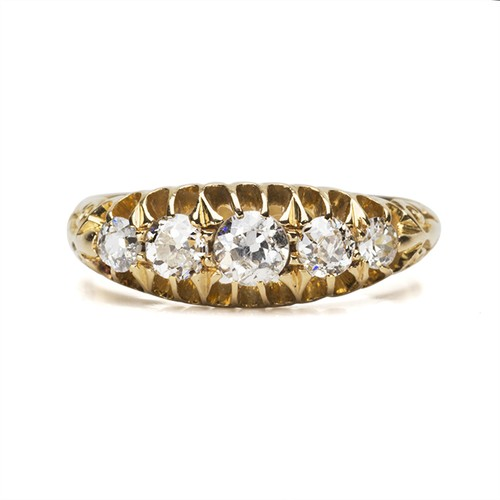 Antique Diamond Half Hoop Ring
