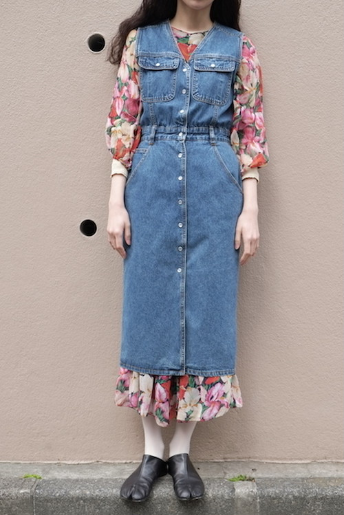 hotori denim one-piece.