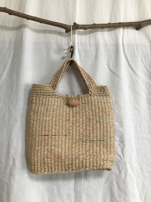 エコおりりん習熟コース【2】輪織りで楽しむ、編み持ち手の手提げバッグ小キット