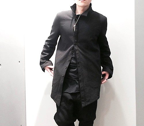 【56%OFF】【by H.New York】Heavy Cotton Asymmetry Jacket Coat (BLK)