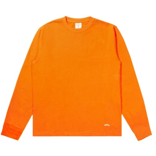Recycled Cotton Long Sleeve Tee(Safety Orange)