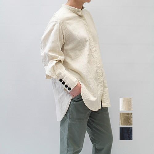 FLORENT(フローレント) Band-collar Long Sleeve Blouse 2021春物新作