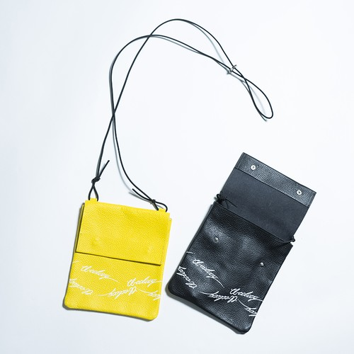 EFFECTEN(エフェクテン) 'utility logo'leather sakosshu