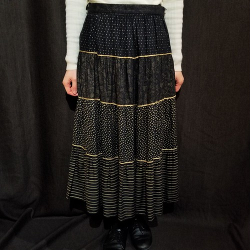 Several pattern tiered skirt [G-1230]