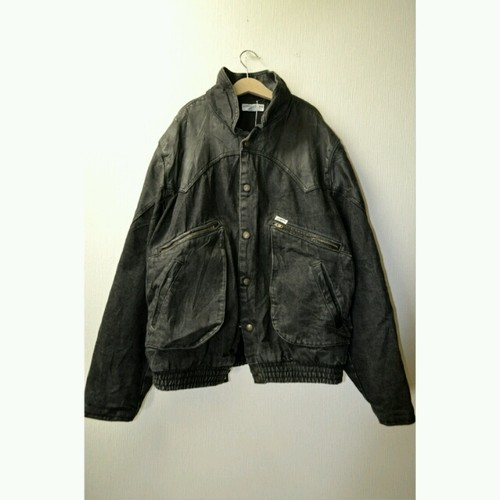 """old """"GUESS"""" Denim&Leather Jacket"""