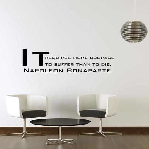 ナポレオン・ボナパルトの名言 壁用シール  ウォールステッカー おしゃれ おすすめ 貼ってはがせる