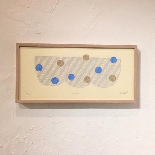竹崎勝代「雨粒」TAKEZAKI Katsuyo/woodcut print 'raindrop'