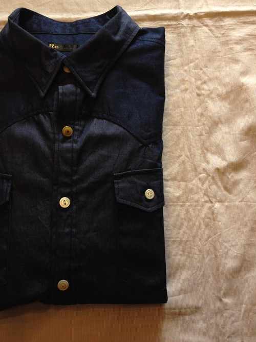 Dress Chambray Western Shirt(Re made in tokyo japan)