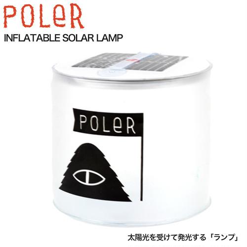 POLeR ポーラー INFLATABLE SOLAR LAMP ソーラーランプ ソーラー充電 アウトドア キャンプ バーベキュー グッズ