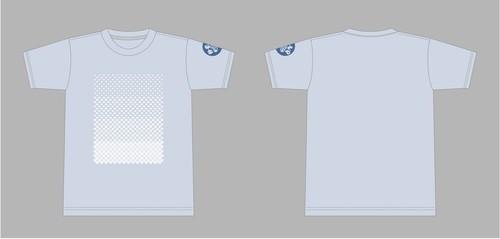 H-E-L-P・Tシャツ(ブルー×ホワイト)