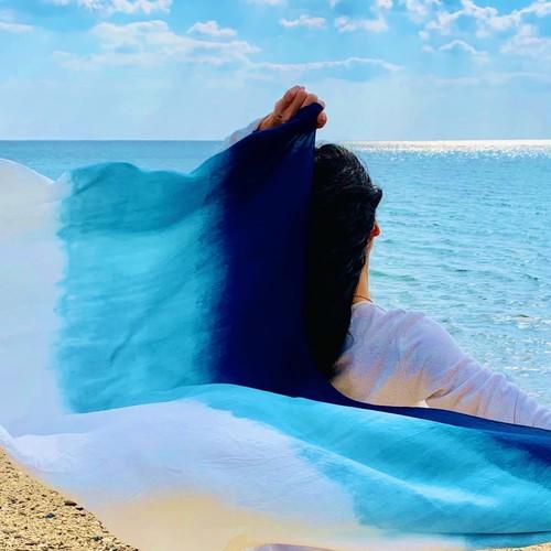 【UNISEX】海の星・藍染シルクストール