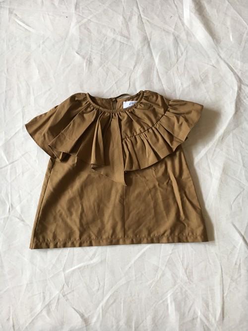 ブラウンカーキ 大人 flare blouse