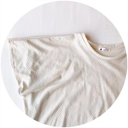 【pullover】circle/アイボリー/original textile