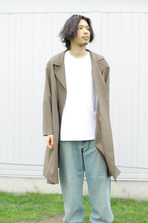 """Stripe """"HAORI"""" Coat"""