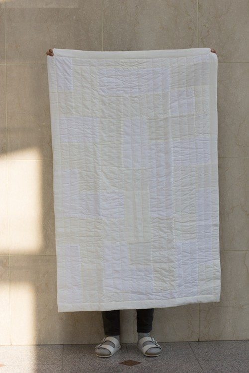 Patchwork Quilt Rug (white)