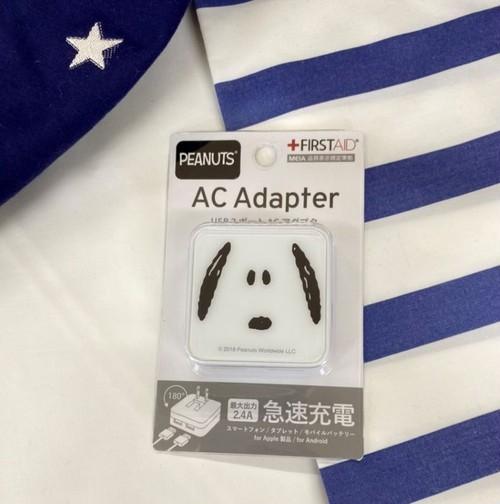 ピーナッツ USB2ポート ACアダプタ