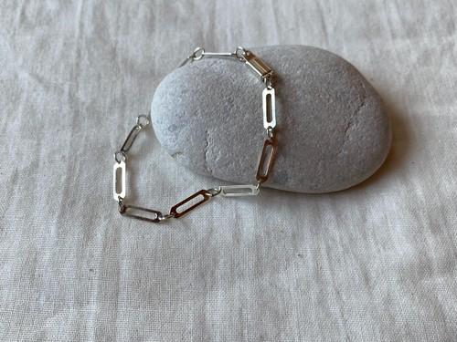 <vintage silver925>clip chain bracelet