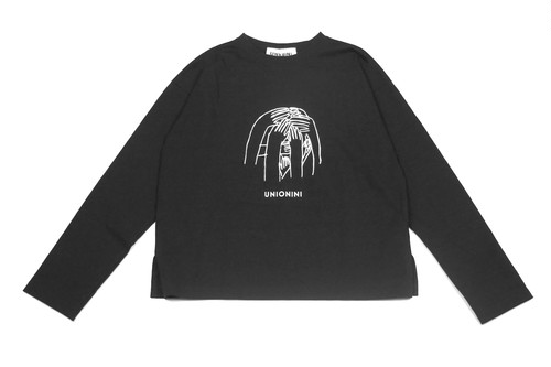 "《UNIONINI 2019AW》""nazo"" long sleeved tee / black"