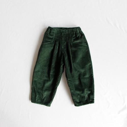 《mimi poupons 2018AW》ハイライズコーデュロイパンツ / green