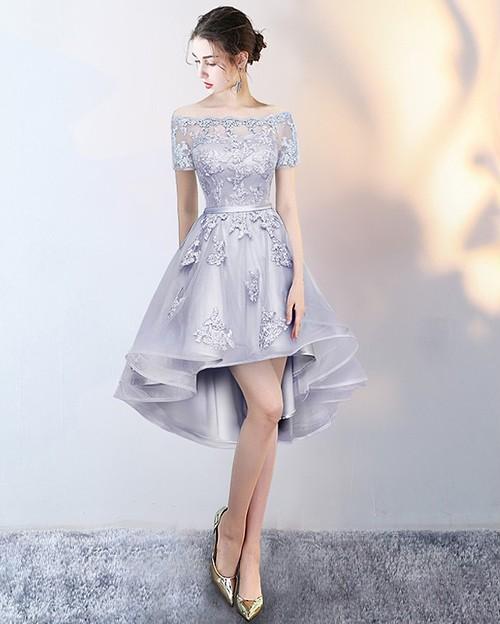 レースドレス レディース 半袖 ミニ丈 オフショル フィッシュテール パーティー 結婚式 大きい 小さい サイズ