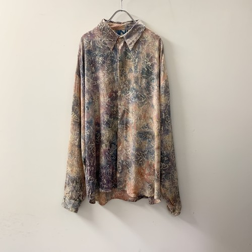 IN DRIVATE レーヨンシャツ 総柄 size XL メンズ 古着