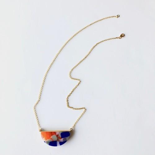 スペイン発 色の重なり合いが見事なペンダント  Terazzo オレンジブルー