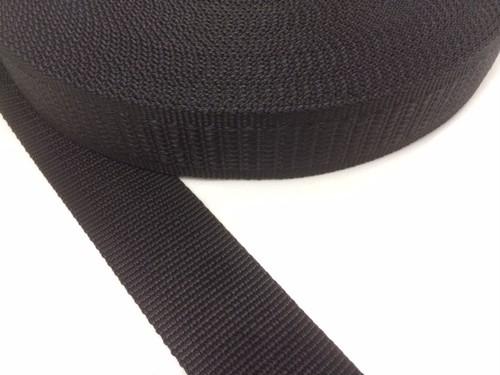 PP 段織 38㎜幅 黒 1巻50m