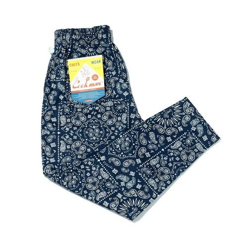 Cookman Chef Pants Paisley Blue