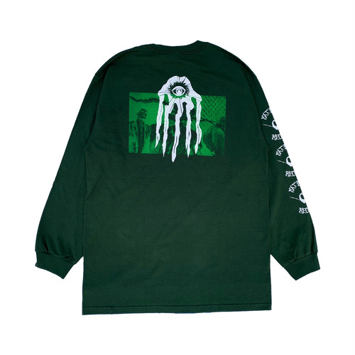 FAT PIGEON RECORD L/S -forest green-