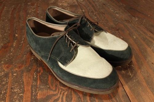2ToneFakeSuedeShoes